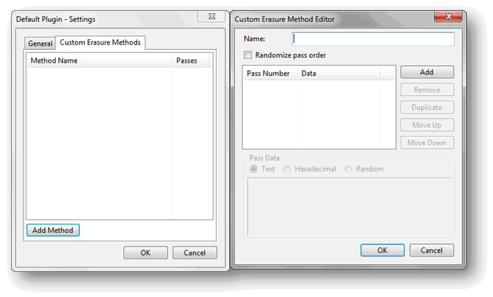 Custom Erasure Methods