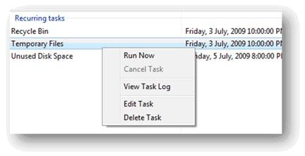 running tasks