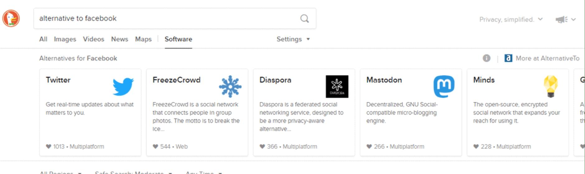 DuckDuckGo App Alternatives