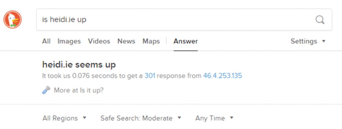 DuckDuckGo Site Status